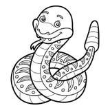 Coloring book, Rattlesnake Royalty Free Stock Photos