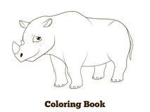 Coloring book rhino african animal cartoon Stock Photo