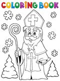 Coloring book Saint Nicolas theme 1 Royalty Free Stock Photography