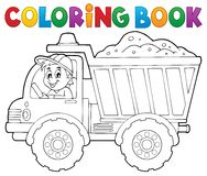 Coloring book sand truck theme 1 Stock Photography