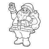 Coloring book, Santa Claus Royalty Free Stock Images