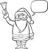 Coloring Book Santa Claus with Christmas Bell Royalty Free Stock Images