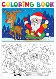 Coloring book Santa Claus topic 7 Royalty Free Stock Photography