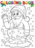Coloring book Santa Claus topic 9 Stock Images