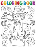 Coloring book scarecrow theme 1 Stock Images