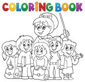 Coloring book school class theme 1 Royalty Free Stock Image