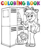 Coloring book school topic 5 Stock Photography