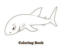 Coloring book shark cartoon educational Royalty Free Stock Photo