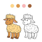 Coloring book (sheep) Stock Image