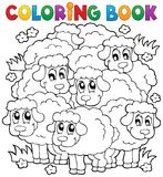 Coloring book sheep theme 2 Royalty Free Stock Images