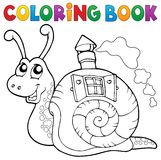 Coloring book snail with shell house Stock Photography