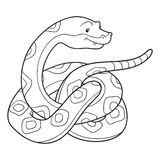 Coloring book (snake) Stock Photos