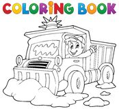 Coloring Book Snow Plough Royalty Free Stock Photo