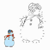 Coloring book (snowman) Royalty Free Stock Images