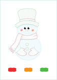 Coloring book snowman Stock Image