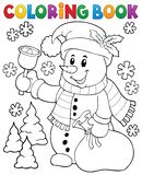 Coloring book snowman topic 3 Stock Image