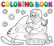 Coloring book snowmobile theme 1 Royalty Free Stock Photography