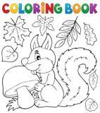 Coloring book squirrel theme 2 Stock Photos