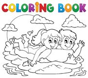 Coloring book summer activity 1 Stock Images