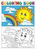 Coloring book summer image 1 Stock Image