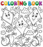 Coloring book with three kites Royalty Free Stock Photo