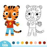 Coloring book, Tiger Royalty Free Stock Images