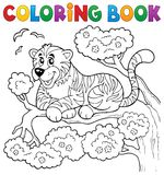 Coloring book tiger theme 1 Stock Image