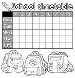 Coloring book timetable topic 5 Stock Photography