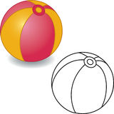 Coloring book. Toy ball Stock Photo