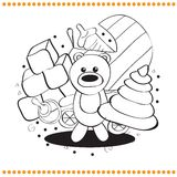 Coloring book toys Stock Images