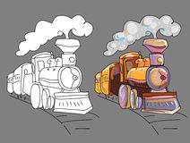 Coloring book with train Stock Photos