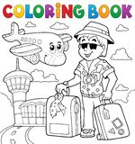 Coloring book travel thematics 2 Royalty Free Stock Images