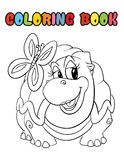 Coloring book turtle cartoon Stock Photos