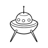 Coloring book, UFO. Coloring book for children, UFO stock illustration
