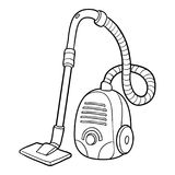 Coloring book, Vacuum cleaner. Coloring book for children, Vacuum cleaner vector illustration