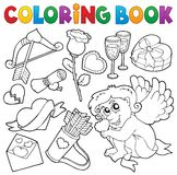 Coloring book Valentine theme 5 Royalty Free Stock Images
