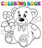 Coloring book Valentine theme 8 Royalty Free Stock Photos
