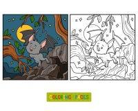 Coloring book, Vampire Bat. Coloring book for children, Vampire Bat Royalty Free Stock Photos