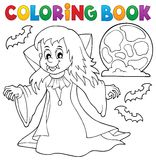 Coloring book vampire girl theme 1 Royalty Free Stock Photography