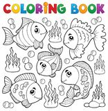 Coloring book various fish theme 1 Stock Photo