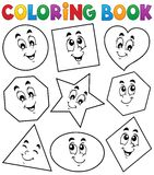 Coloring book various shapes 1 Royalty Free Stock Images