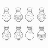 Coloring Book (vases) Stock Image