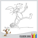 Coloring book (vector). One list of coloring book, drunked easter bunny, vector Stock Photos