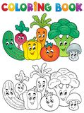 Coloring book vegetable theme 2 Royalty Free Stock Photo