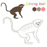 Coloring book vervet kids layout for game Stock Photos