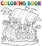 Coloring book with Viking ship Stock Photos
