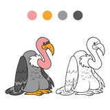 Coloring book (vulture) Royalty Free Stock Image