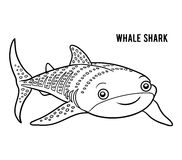 Coloring book, Whale shark Stock Photo