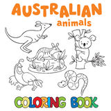 Coloring book with wild animals Royalty Free Stock Image