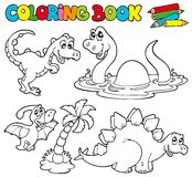Coloring Book With Dinosaurs 1 Stock Photo